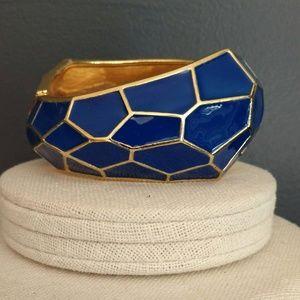 Jewelry - Blue and gold enamel bracelet